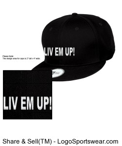 LIV EM UP! SNAP BACKS Design Zoom